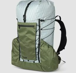 DROP 40L Ultralight Backpack by Dan Durston — Waterproof, Removable Internal Frame, Hipbelt Pockets, Hydration Ready, Roll-Top, for Camping, Hiking, a for Sale in Seguin,  TX