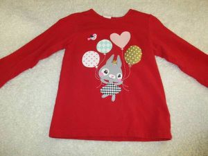 valentines day toddler 12-18 mos H&M top shirt tee girls for Sale in Mission Viejo, CA