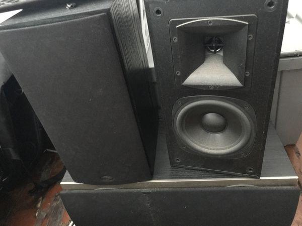 Klipsch SB-1 Black Bookshelf Speakers