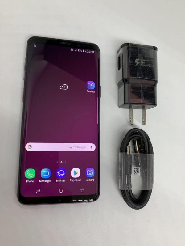 "Samsung Galaxy S9 64GB FACTORY UNLOCKED"" almost new with warranty"