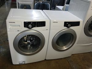 🏭Sansung washer dryer electric nice set🏭 for Sale in Houston, TX