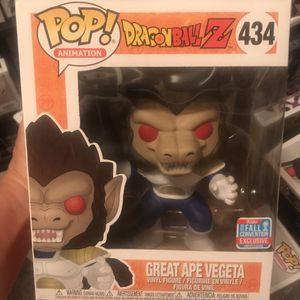 Funko Pop! Dragonball Z Great Ape Vegeta #434 NYCC 2018 for Sale in Queen Creek, AZ