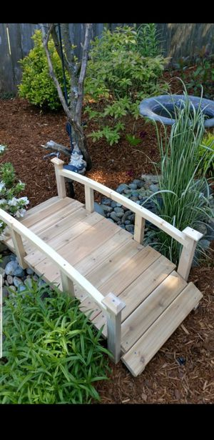 Garden decor, yard decor wood bridge for sale. 4 feet long about 20 inches wide. for Sale in Tacoma, WA