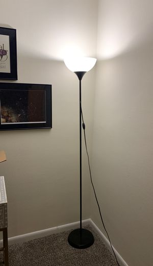 Tall lamp from ikea with black base for Sale in Chevy Chase, MD