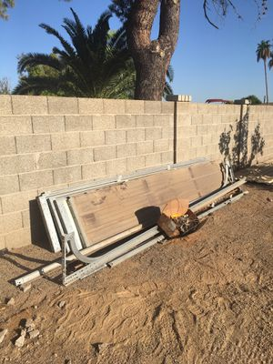 garage door double and all mounting hardware and installation instruction manual. for Sale in Peoria, AZ