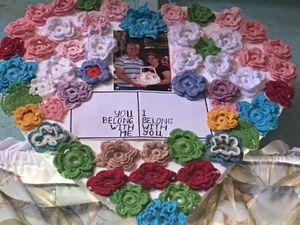 Crochet flower decoration for Sale in Hilo, HI