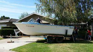 1970 Traveler Neptune 19' Deep Vee fishing/ ski boat for Sale in Lodi, CA