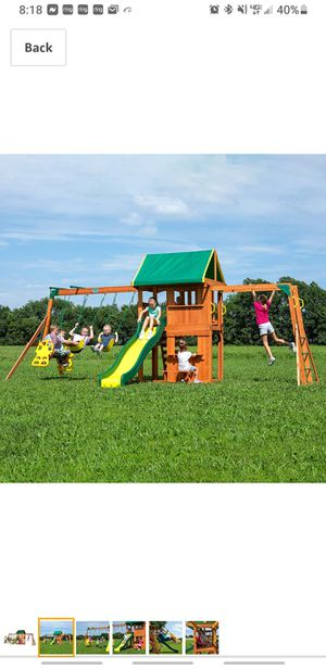 Wood swing set for Sale in Plainville, CT