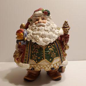 "FITZ & FLOYD CHRISTMAS SANTA COOKIE JAR JOLLY OLE ST NICK. 12"" tall. for Sale in San Jose, CA"