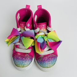 JOJO SIWA Pink RAINBOW + BOW Kids / Youth Size 12 High Tops Sneakers Shoes New! for Sale in Boynton Beach,  FL