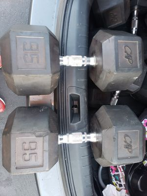 95lb CAP Rubber Dumbbells for Sale in Lakewood, CA