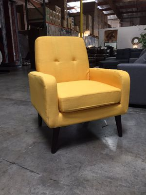 Modern Accent Chair, Yellow, D7971 for Sale in Downey, CA