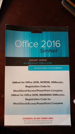 Office 2016 SimNet Access Card for Sale in Everett,  WA