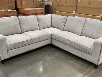 CLEARANCE | COSTCO Fabric Sectional Sofa, Gray | 🔥$50 DOWN for Sale in San Diego,  CA