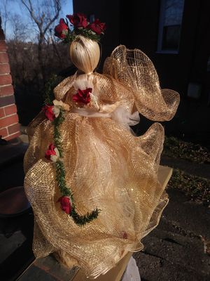 Angel with Red Roses/19 inches height for Sale in Pittsburgh, PA