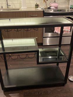 Bar Cart - Black And Mirrors for Sale in Seattle,  WA