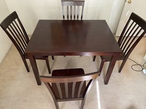 Wooden Table & 4 Chairs for Sale in Mentone, CA