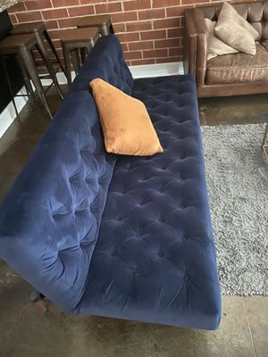 Letto Sofa Bed (Velvet Blue) for Sale in Charlotte, NC