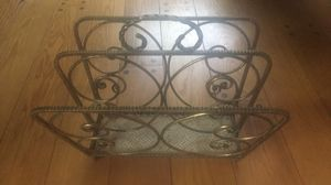 Antique brass magazine rack for Sale in Rockville, MD
