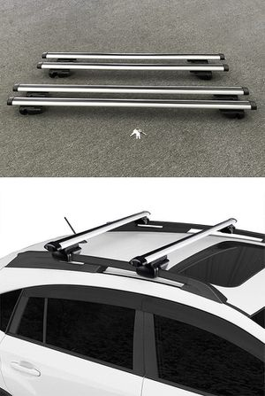 "New 2 Sizes: (48"" for $35), (55"" for $40) Universal Car Cross Bar Top Luggage Roof Rack Cargo Carrier for Sale in South El Monte, CA"