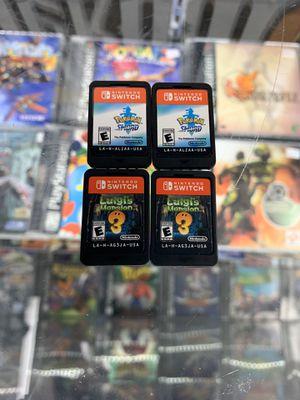 Pokémon Sword Or Luigi's Mansion $40 each Gamehogs 11am-7pm for Sale in Monterey Park, CA