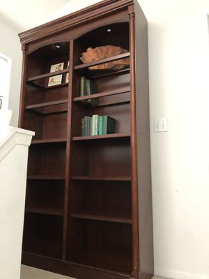 Large cherry wood book self unit- beautiful for Sale in Lynnwood, WA