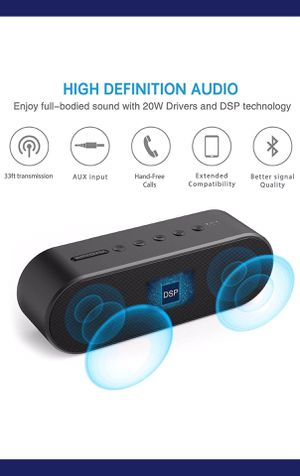 Aptoyu 4.0 out of 5 stars 326 Reviews Bluetooth Speaker, Wireless Bluetooth 4.2 Portable Speakers with Built-in Mic, Louder Volume 20W Power, More B for Sale in Holly Springs, NC