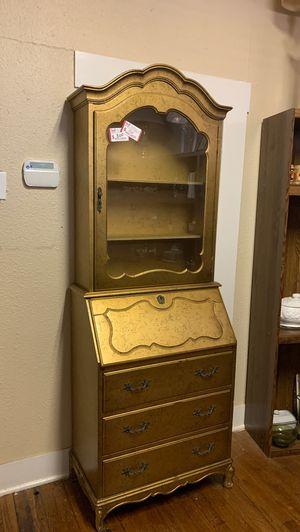 Golden secretary desk/shelf $150 obo for Sale in San Antonio, TX