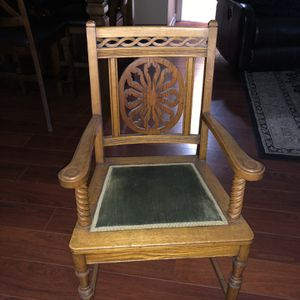 Chair From Early 1900s hand carved for Sale in West Covina, CA
