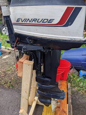 Evinrude 25 horsepower short shaft 2 stroke outboard boat motor for Sale in Guilford, CT