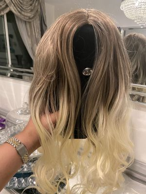 Lace wig brand new 26inch ombré never Word for Sale in Rancho Cucamonga, CA