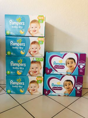 Diapers size 4! Pampers brand! New In-Box! for Sale in Long Beach, CA
