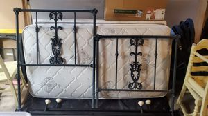 Antique Cast Iron Bed Frame with Matress and Boxspring. for Sale in Plaistow, NH