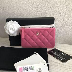 Chanel pink caviar mini o case light gold hardware pouch for Sale in Huntington Beach, CA
