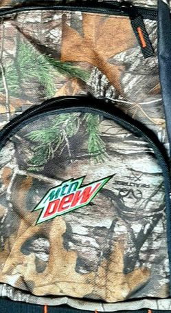 Real Tree Camo Mt. Dew backpack for Sale in Linden,  MI