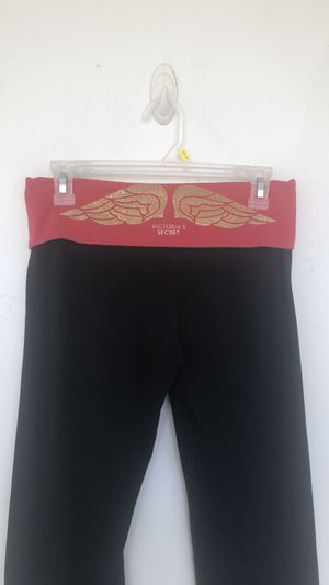 Pink vs rare Gold glitter wings fold over yoga pants for Sale in Spring Hill, FL