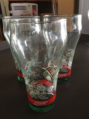 Three Collectable Coke Cola glasses for Sale in Martinez, CA