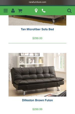 Gray Leather Futon for Sale in Hialeah, FL