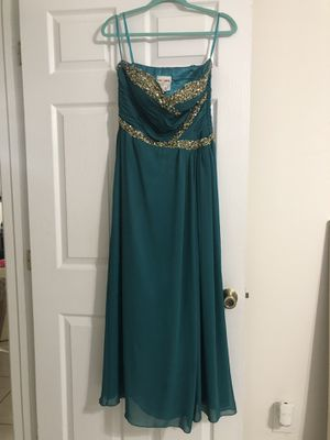 Dress, teal and gold for Sale in Fort Lauderdale, FL
