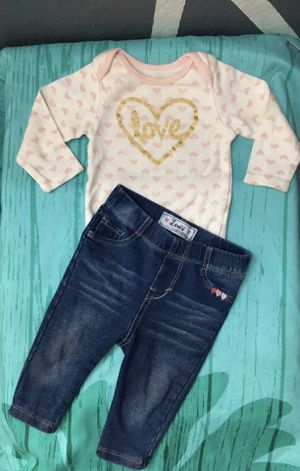 Infant Baby Girl Levi's Outfit 6 Months - 9 Months for Sale in Garden Grove, CA