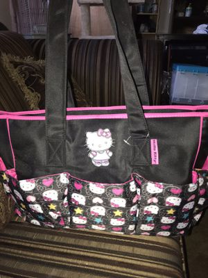 Pretty big diaper bag hello kitty nice and clean there's five pictures for Sale in San Diego, CA