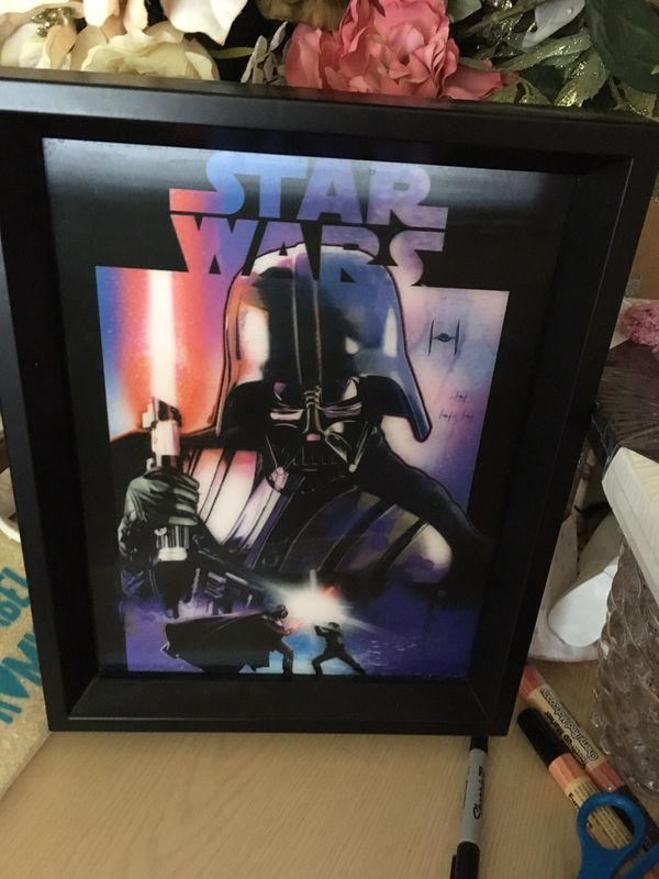 Star Wars 3D picture with black frame