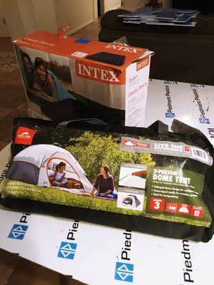 (Ozark Trail) 3 person DOME tent, Queen Classic Downy (INTEX) for Sale in Glendale, AZ