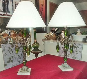 Beautiful Pair Vintage Green Lamps for Sale in Mount Rainier, MD