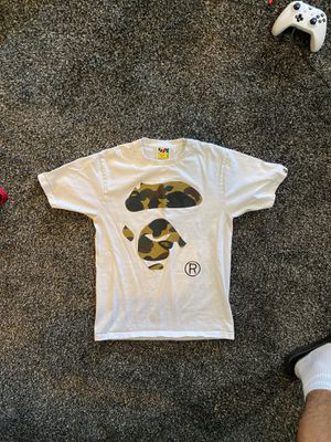 Bathing Ape White Shirt (Adult Small) for Sale in Fairfield, CA