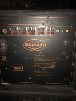 KLIPSCH speaker pro media ultra 5.1 for Sale in Las Vegas, NV