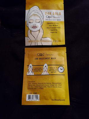 GO2 Beauty 24k Gold Sheet Mask for Sale in Modesto, CA