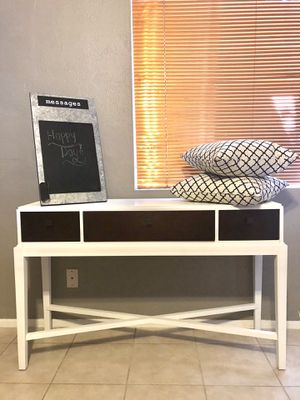 Beautiful Farmhouse MCM Style Two Tone Console/Accent Table for Sale in Scottsdale, AZ