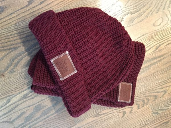 Love Your Melon Scarf and Beanie Set