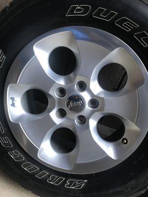 5 Wrangler Sahara Wheels and Tires for Sale in Fresno, CA